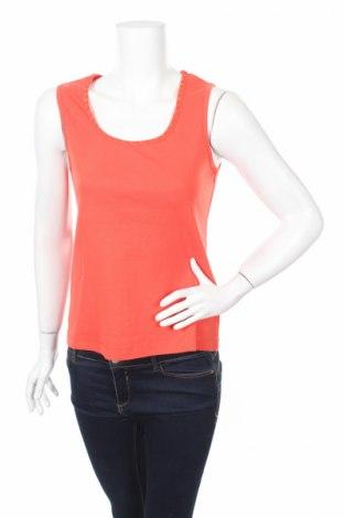 Γυναικείο αμάνικο μπλουζάκι G.W., Μέγεθος M, Χρώμα Πορτοκαλί, 100% βαμβάκι, Τιμή 15,46€