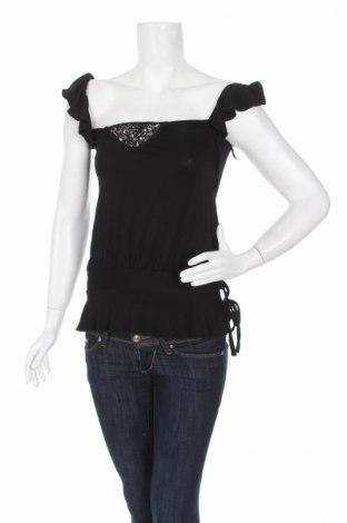 Γυναικείο αμάνικο μπλουζάκι Melrose, Μέγεθος XS, Χρώμα Μαύρο, 96% βισκόζη, 4% ελαστάνη, Τιμή 2,17€