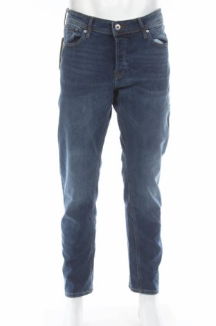 Мъжки дънки Jack & Jones, Размер L, Цвят Син, 98% памук, 2% еластан, Цена 63,70лв.