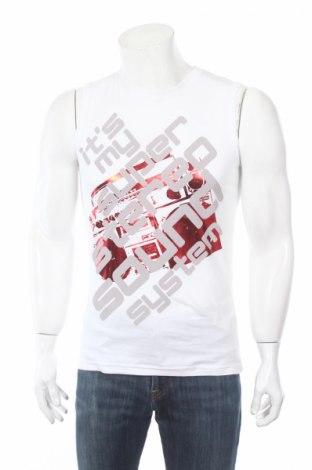 Ανδρική αμάνικη μπλούζα Fishbone, Μέγεθος M, Χρώμα Λευκό, Βαμβάκι, Τιμή 5,72€