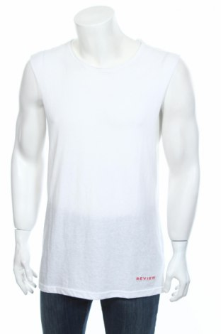 Pánske tielko  Review, Veľkosť M, Farba Biela, 50% polyester, 38% bavlna, 12% viskóza, Cena  6,67€