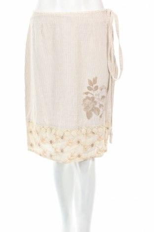 Φούστα Isabell Kristensen, Μέγεθος S, Χρώμα  Μπέζ, 100% βαμβάκι, Τιμή 6,96€
