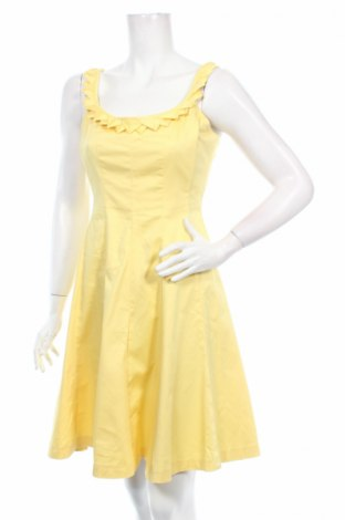 Рокля Nine West, Размер S, Цвят Жълт, 98% памук, 2% еластан, Цена 42,25лв.