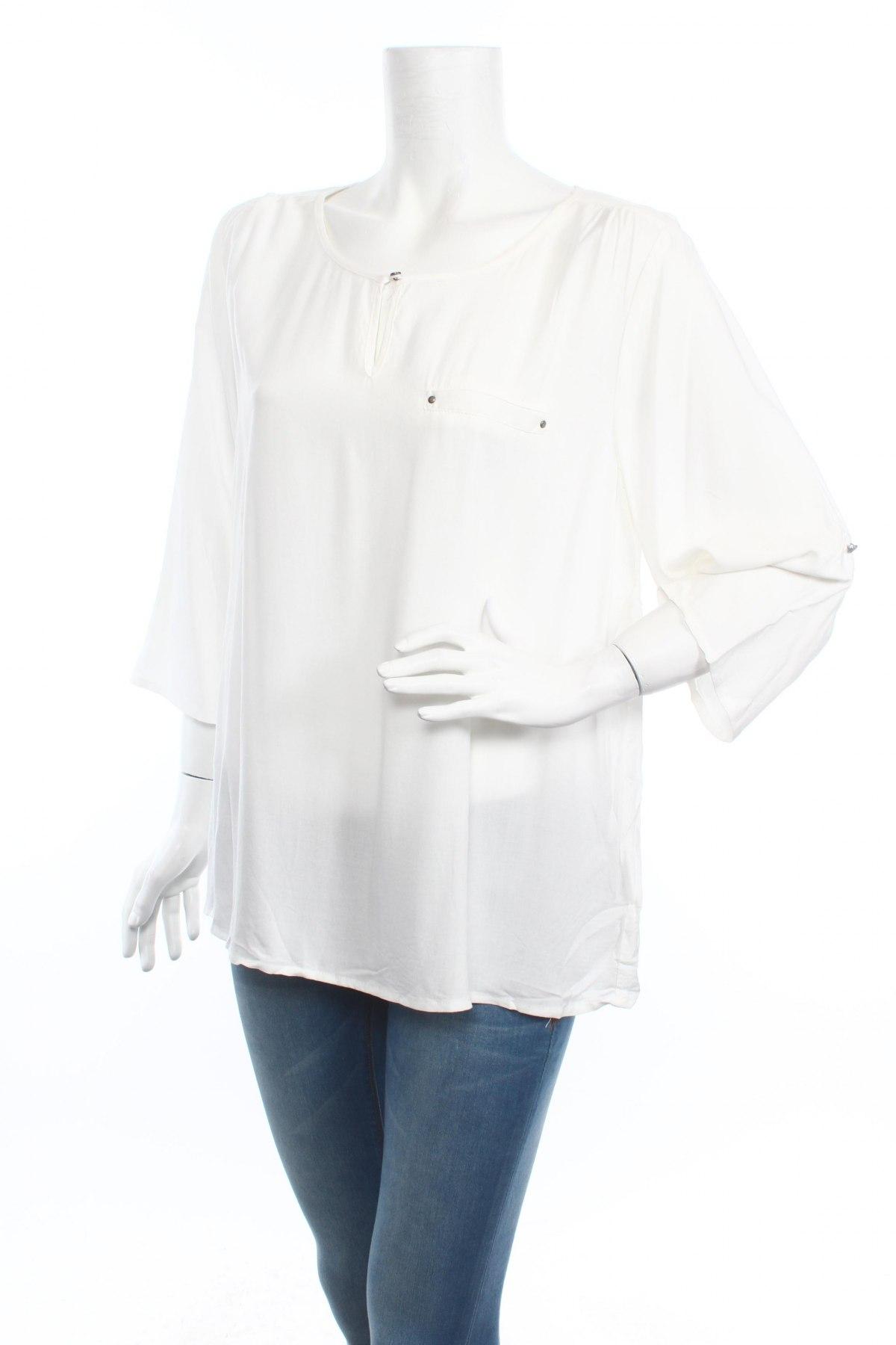 Дамска блуза Soya Concept, Размер XL, Цвят Бял, Вискоза, Цена 34,45лв.