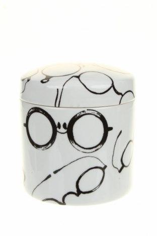 Буркан за съхранение, Цвят Бял, Керамика, Цена 38,48лв.