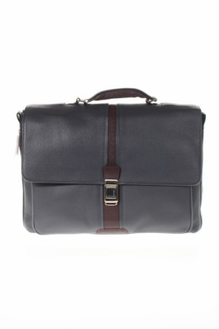 Чанта за лаптоп Piquadro, Цвят Сив, Естествена кожа, Цена 233,40лв.