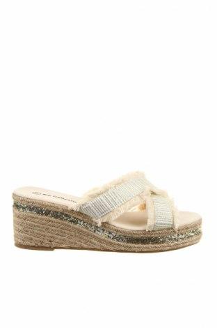 Papuci de casă, Mărime 38, Culoare Argintiu, Textil, Preț 90,13 Lei