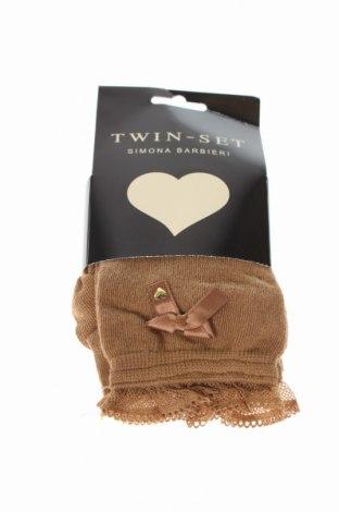 Ciorapi Twin-Set, Mărime S, Culoare Maro, 80% bumbac, 15% poliester, 5% elastan, Preț 162,84 Lei