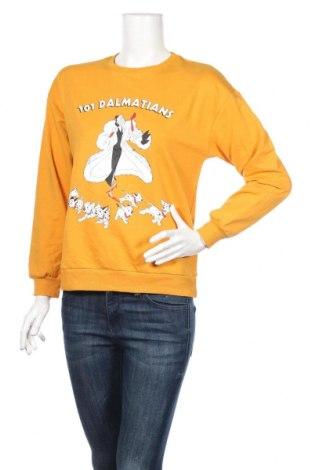 Дамска блуза LCW, Размер XS, Цвят Жълт, 50% полиестер, 50% памук, Цена 11,76лв.