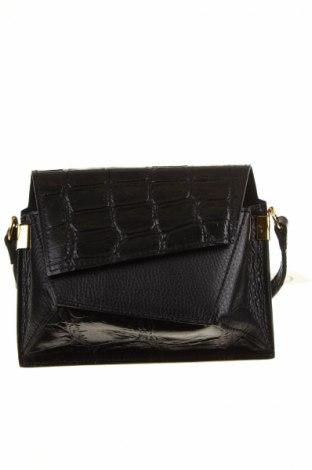 Geantă de femei, Culoare Negru, Piele naturală, Preț 178,58 Lei