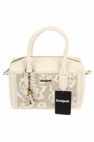 Γυναικεία τσάντα Desigual, Χρώμα  Μπέζ, Δερματίνη, Τιμή 41,71€