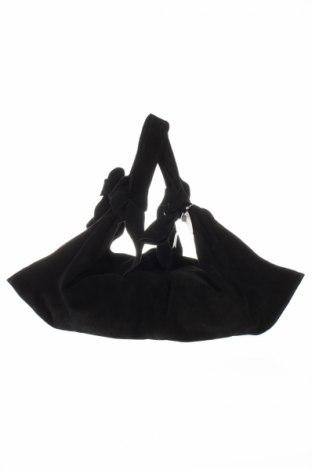 Γυναικεία τσάντα Mango, Χρώμα Μαύρο, Φυσικό σουέτ, Τιμή 41,71€