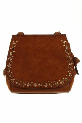 Γυναικεία τσάντα Parfois, Χρώμα Καφέ, Δερματίνη, φυσικό σουέτ, κλωστοϋφαντουργικά προϊόντα, Τιμή 16,82€