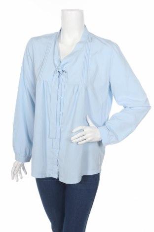 Дамска риза Acevog, Размер XL, Цвят Син, 65% памук, 35% еластан, Цена 6,62лв.