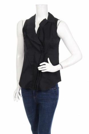 Дамска риза Ann Taylor, Размер S, Цвят Черен, 78% памук, 19% полиамид, 3% еластан, Цена 29,25лв.