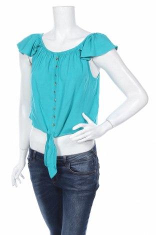 Γυναικείο πουκάμισο Clockhouse, Μέγεθος M, Χρώμα Πράσινο, Βισκόζη, Τιμή 13,15€