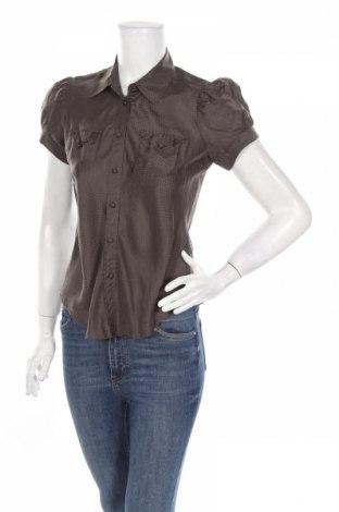 Дамска риза French Connection, Размер S, Цвят Зелен, Коприна, Цена 57,46лв.