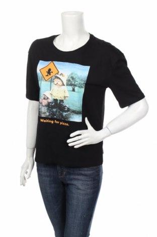 Дамска тениска Clockhouse, Размер XS, Цвят Черен, Памук, Цена 20,16лв.