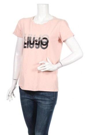 Tricou de femei Liu Jo, Mărime M, Culoare Roz, 5% elastan, 95% bumbac, Preț 110,76 Lei