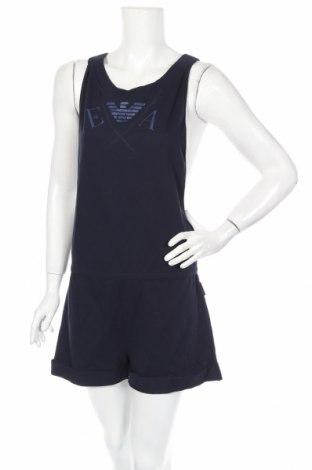 Дамски гащеризон Emporio Armani Underwear, Размер L, Цвят Син, Памук, Цена 131,04лв.