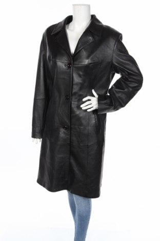 Γυναικεία δερμάτινη καμπαρντίνα, Μέγεθος L, Χρώμα Μαύρο, Γνήσιο δέρμα, Τιμή 33,82€