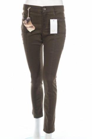 Дамски панталон Anna Montana, Размер M, Цвят Зелен, 69% памук, 29% полиестер, 2% еластан, Цена 35,44лв.