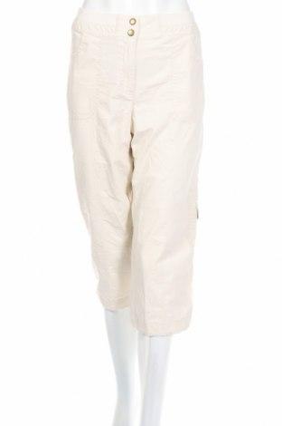 Дамски панталон Chico's, Размер M, Цвят Екрю, 97% памук, 3% еластан, Цена 10,16лв.