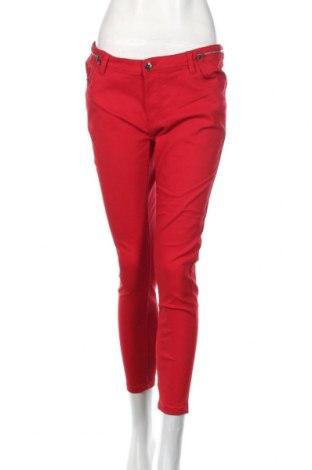 Pantaloni de femei Mohito, Mărime L, Culoare Roșu, 70% bumbac, 27% poliester, 3% elastan, Preț 106,11 Lei