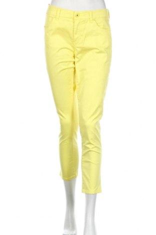 Damskie spodnie Trenery, Rozmiar M, Kolor Żółty, 97% bawełna, 3% elastyna, Cena 72,00zł