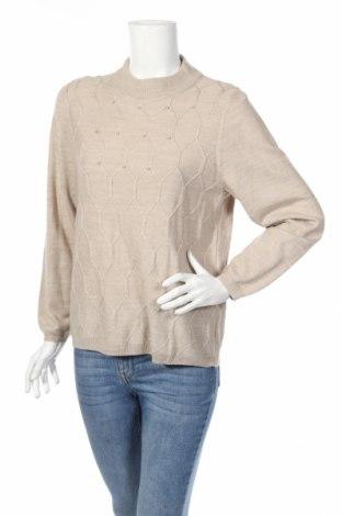 Дамски пуловер Alia, Размер M, Цвят Бежов, Акрил, Цена 7,35лв.