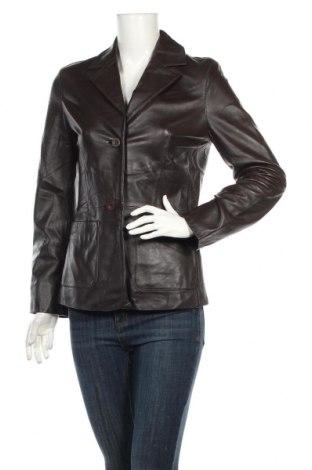 Γυναικείο δερμάτινο σακάκι Just Jeans, Μέγεθος M, Χρώμα Καφέ, Γνήσιο δέρμα, Τιμή 34,23€