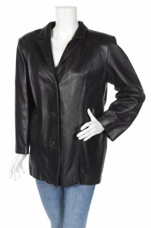 Γυναικείο δερμάτινο μπουφάν, Μέγεθος XL, Χρώμα Μαύρο, Γνήσιο δέρμα, Τιμή 30,51€