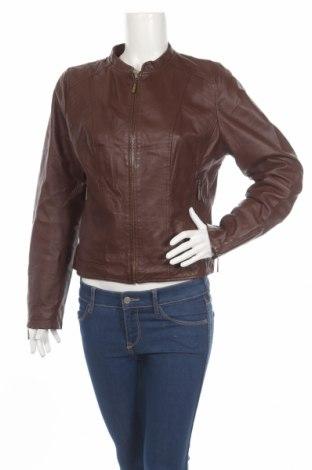 Dámská kožená bunda  Jeanswest, Rozměr L, Barva Hnědá, Pravá kůže, Cena  1218,00Kč