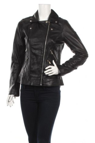 Γυναικείο δερμάτινο μπουφάν Kaporal, Μέγεθος M, Χρώμα Μαύρο, Γνήσιο δέρμα, Τιμή 79,88€