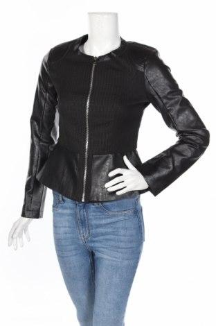 Γυναικείο δερμάτινο μπουφάν Koton, Μέγεθος S, Χρώμα Μαύρο, Δερματίνη, κλωστοϋφαντουργικά προϊόντα, Τιμή 14,69€