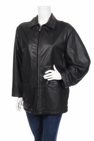 Γυναικείο δερμάτινο μπουφάν R&G, Μέγεθος M, Χρώμα Μαύρο, Γνήσιο δέρμα, Τιμή 29,49€