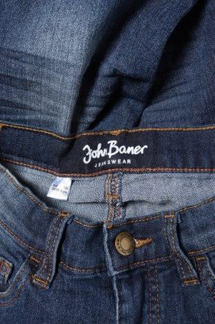 Детски дънки John Baner, Размер 6-7y/ 122-128 см, Цвят Син, 82% памук, 17% полиестер, 1% еластан, Цена 6,90лв.