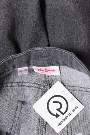 Детски дънки John Baner, Размер 11-12y/ 152-158 см, Цвят Сив, 82% памук, 17% полиестер, 1% еластан, Цена 8,64лв.