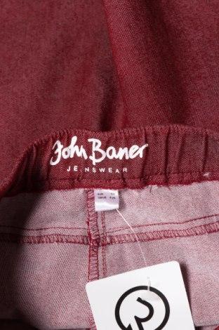 Детски дънки John Baner, Размер 6-7y/ 122-128 см, Цвят Червен, 65% памук, 33% полиестер, 2% еластан, Цена 9,00лв.