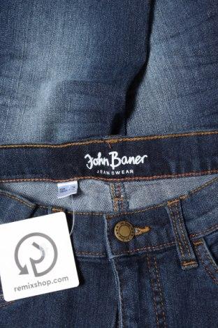 Детски дънки John Baner, Размер 7-8y/ 128-134 см, Цвят Син, 82% памук, 17% полиестер, 1% еластан, Цена 6,90лв.