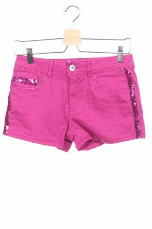 Pantaloni scurți de copii Guess, Mărime 13-14y/ 164-168 cm, Culoare Roz, 98% bumbac, 2% elastan, Preț 190,90 Lei