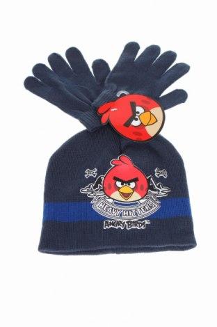 Детски комплект Angry Birds, Цвят Син, Акрил, Цена 12,80лв.