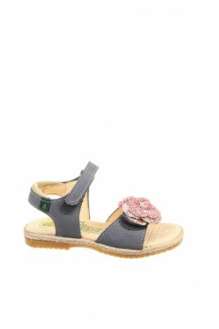 Sandale pentru copii El Naturalista, Mărime 25, Culoare Gri, Piele naturală, Preț 172,10 Lei