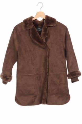 Детско палто Zara Kids, Размер 9-10y/ 140-146 см, Цвят Кафяв, Полиестер, Цена 42,00лв.