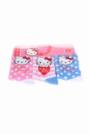 Set Hello Kitty, Mărime 7-8y/ 128-134 cm, Culoare Multicolor, 70% bumbac, 27% poliamidă, 3% elastan, Preț 34,11 Lei
