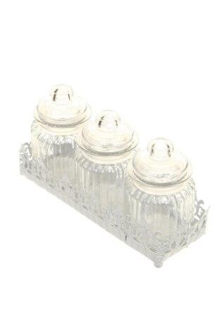 Set borcane pentru depozitare, Culoare Alb, Sticlă, Preț 68,16 Lei