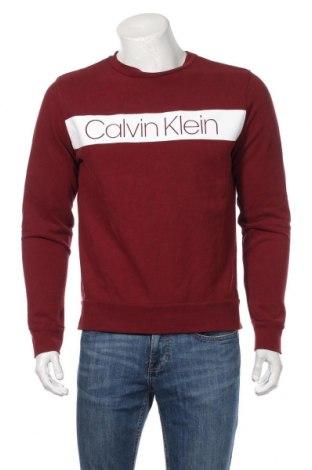 Bluză de bărbați Calvin Klein, Mărime M, Culoare Roșu, Bumbac, Preț 149,68 Lei