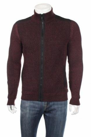 Jachetă tricotată de bărbați Calvin Klein, Mărime S, Culoare Roșu, Bumbac, Preț 139,73 Lei