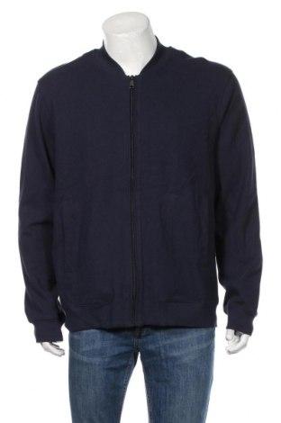 Jachetă tricotată de bărbați David Jones, Mărime XL, Culoare Albastru, 100% bumbac, Preț 191,72 Lei