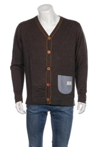 Jachetă tricotată de bărbați Originals By Jack & Jones, Mărime L, Culoare Verde, Bumbac, Preț 110,49 Lei